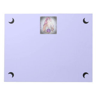 Moon in a Bottle Witch Wiccan Pagan Notepad