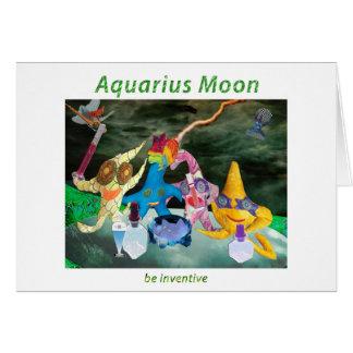 Moon in Aquarius Card