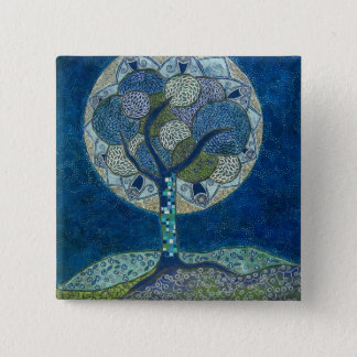 moon in bloom (painting) button
