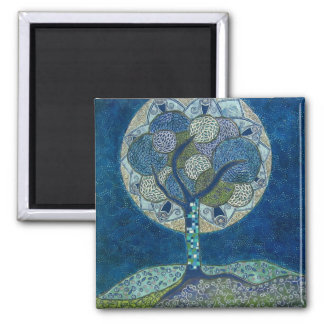 moon in bloom (painting) magnet
