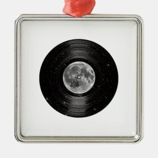 Moon In Space Vinyl LP Record Ornament