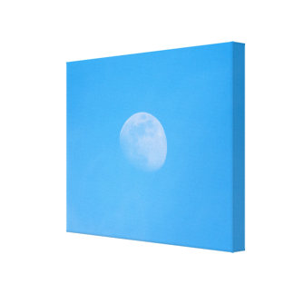 Moon in the afternoon canvas print