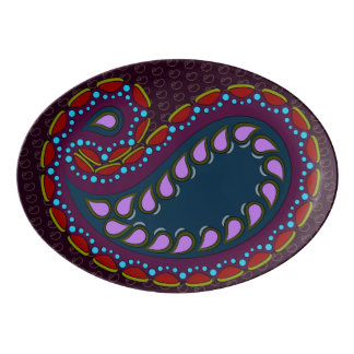 Moon Jimmies Paisley Porcelain Serving Platter
