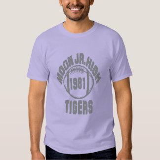 Moon Junior High American Football Men Dark T Tee Shirt