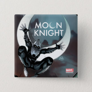Moon Knight Cover 2 Inch Square Button