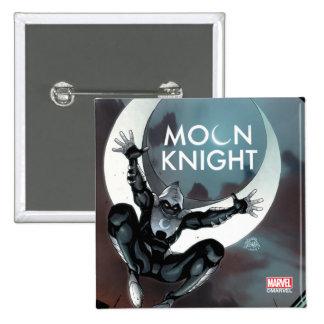 Moon Knight Cover 2 Inch Square Button