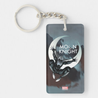 Moon Knight Cover Double-Sided Rectangular Acrylic Keychain