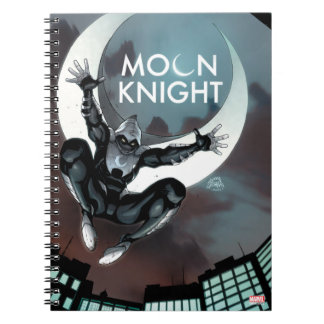 Moon Knight Cover Spiral Notebook