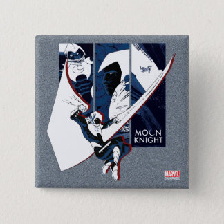Moon Knight Panels 2 Inch Square Button