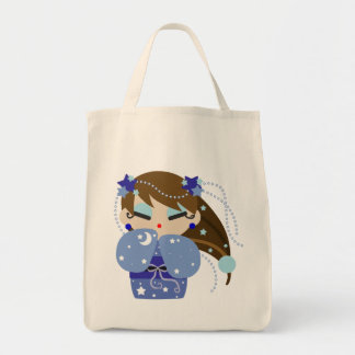 Moon Kokeshi Tote Bag
