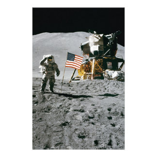 moon landing apollo 15 lunar module nasa 1971 custom stationery
