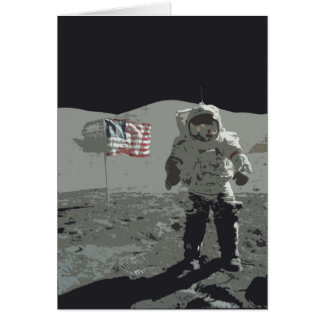 Moon Landing Birthday Card