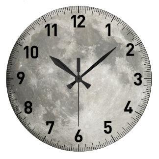 Moon Large Clock