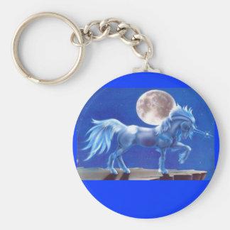 Moon Light DAnce Of The Unicorn Key Chains