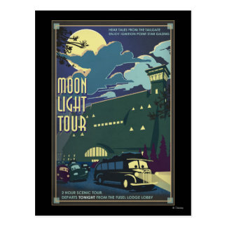 Moon Light Tour Illustration Postcard