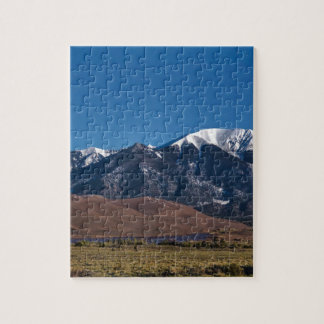 Moon Lit Colorado Great Sand Dunes Starry Night Jigsaw Puzzle