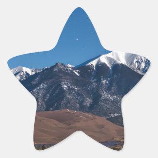 Moon Lit Colorado Great Sand Dunes Starry Night Star Sticker