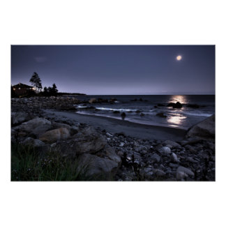 Moon Lit White Point Beach fine art print