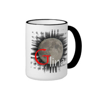 Moon, Lune, Luna, Glina, Moon cup Ringer Coffee Mug