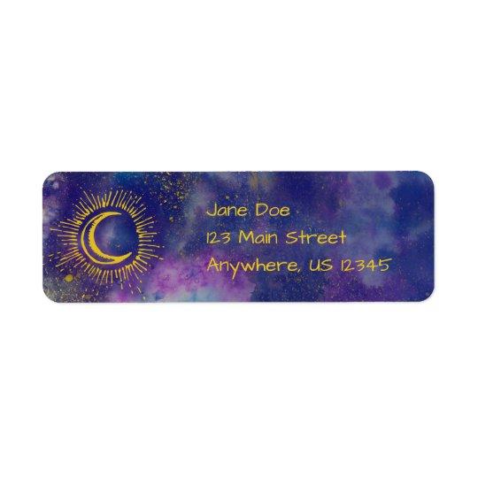 """Moon"" Mailing Address Labels (Gold-Etc)"