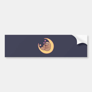 Moon Mama Sloth and Babies Bumper Sticker