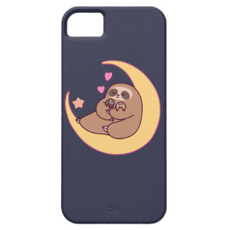 Moon Mama Sloth and Babies Case For The iPhone 5