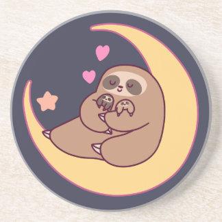 Moon Mama Sloth and Babies Coaster