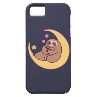 Moon Mama Sloth and Babies iPhone 5 Case
