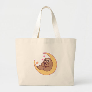 Moon Mama Sloth and Babies Large Tote Bag