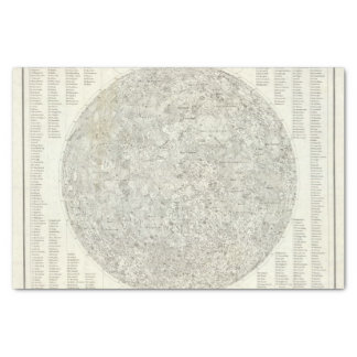 Moon Map Tissue Paper