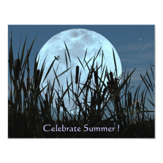 Moon, Marsh, and Dragonfly Summer Party Invitation
