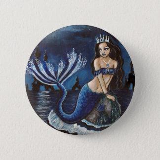 Moon mermaid 2 inch round button
