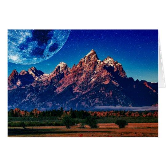 Moon Mountain Card