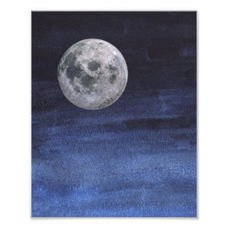 Moon Nigh Sky Print Photo Art
