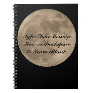 Moon Notebook Custom Full Moon Journal Book Gifts