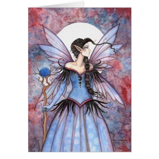 Moon of Winter Mystical Fairy Fantasy Art Card