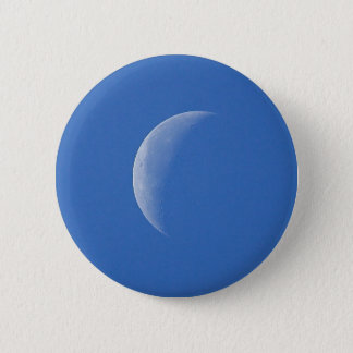 Moon On Blue Sky 2 Inch Round Button