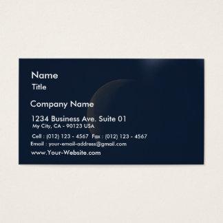 Moon On Blue Sky Business Card