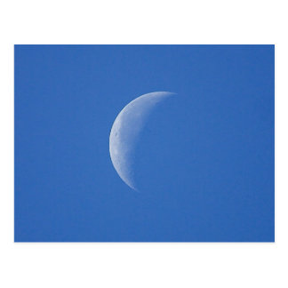 Moon On Blue Sky Postcard