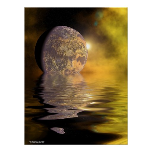 Moon on the water poster