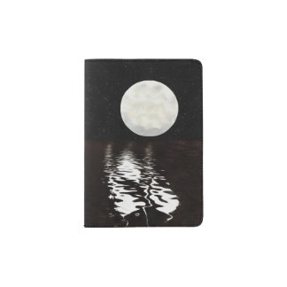Moon on Water Passport Holder