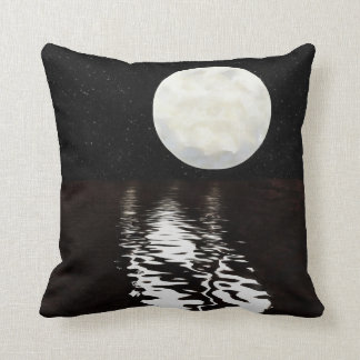 Moon on Water Throw Pillow