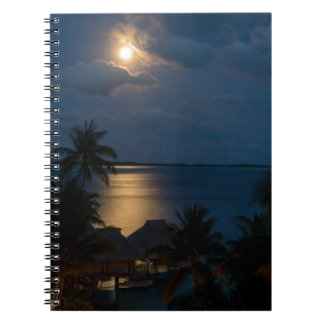 Moon one will bora will bora spiral notebook