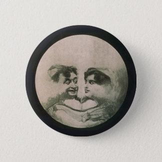 Moon Optical Illusion 2 Inch Round Button