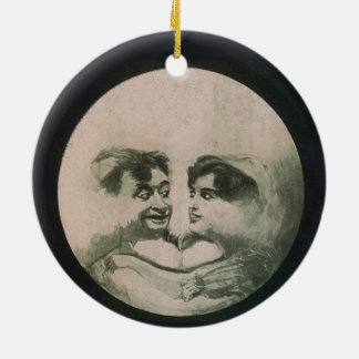 Moon Optical Illusion Ceramic Ornament