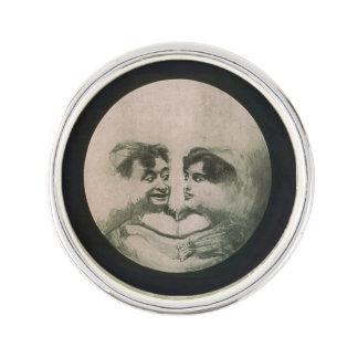 Moon Optical Illusion Lapel Pin