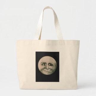 Moon Optical Illusion Large Tote Bag