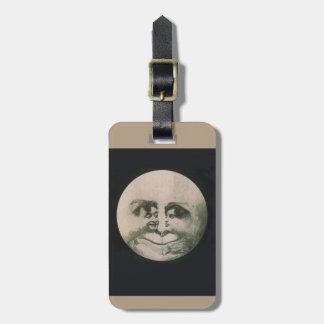 Moon Optical Illusion Luggage Tag