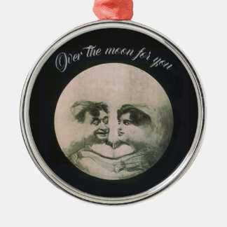 Moon Optical Illusion Metal Ornament