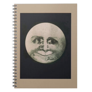 Moon Optical Illusion Notebook
